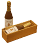 chocolade champagnefles transparant